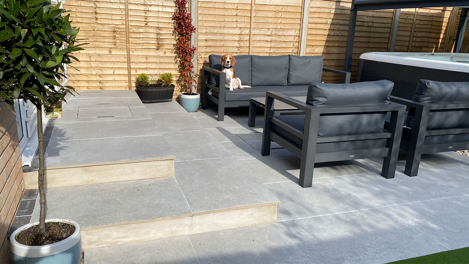 Our Exbury Grey Porcelain Paving in Winchester